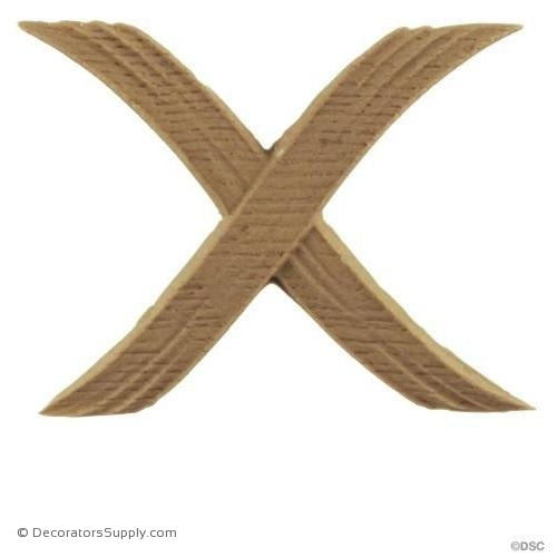 Cross Band - Classic 3H X 2 1/2W - 1/8Relief-ornaments-furniture-woodwork-Decorators Supply
