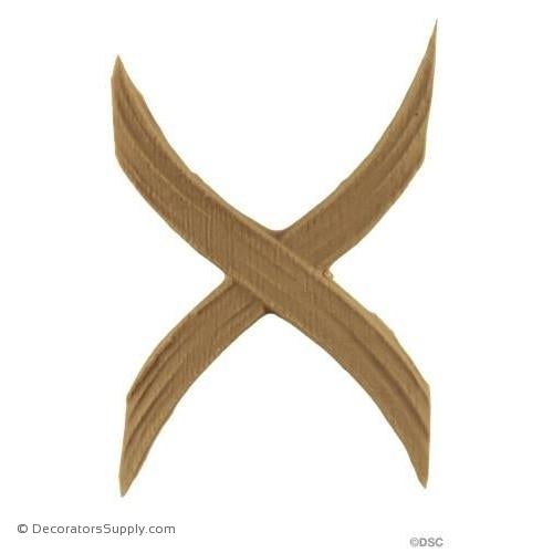 Cross Band - Classic 4H X 2 1/2W - 3/16Relief-ornaments-furniture-woodwork-Decorators Supply
