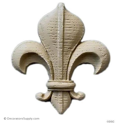 Fleur de Lis-Gothic 2 5/8H X 2 3/8W - 5/16Relief - Decorators Supply