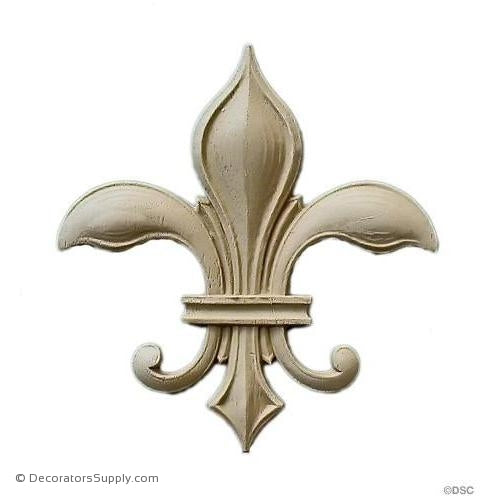 Fleur de Lis-Gothic 3 1/8H X 2 3/8W - 3/16Relief - Decorators Supply
