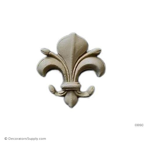 Fleur de Lis-Gothic 1 1/2H X 1 3/8W - 1/4Relief - Decorators Supply