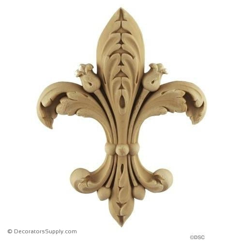 Fleur de Lis-Ren. 7 5/8H X 5 3/4W - 1/2Relief - Decorators Supply