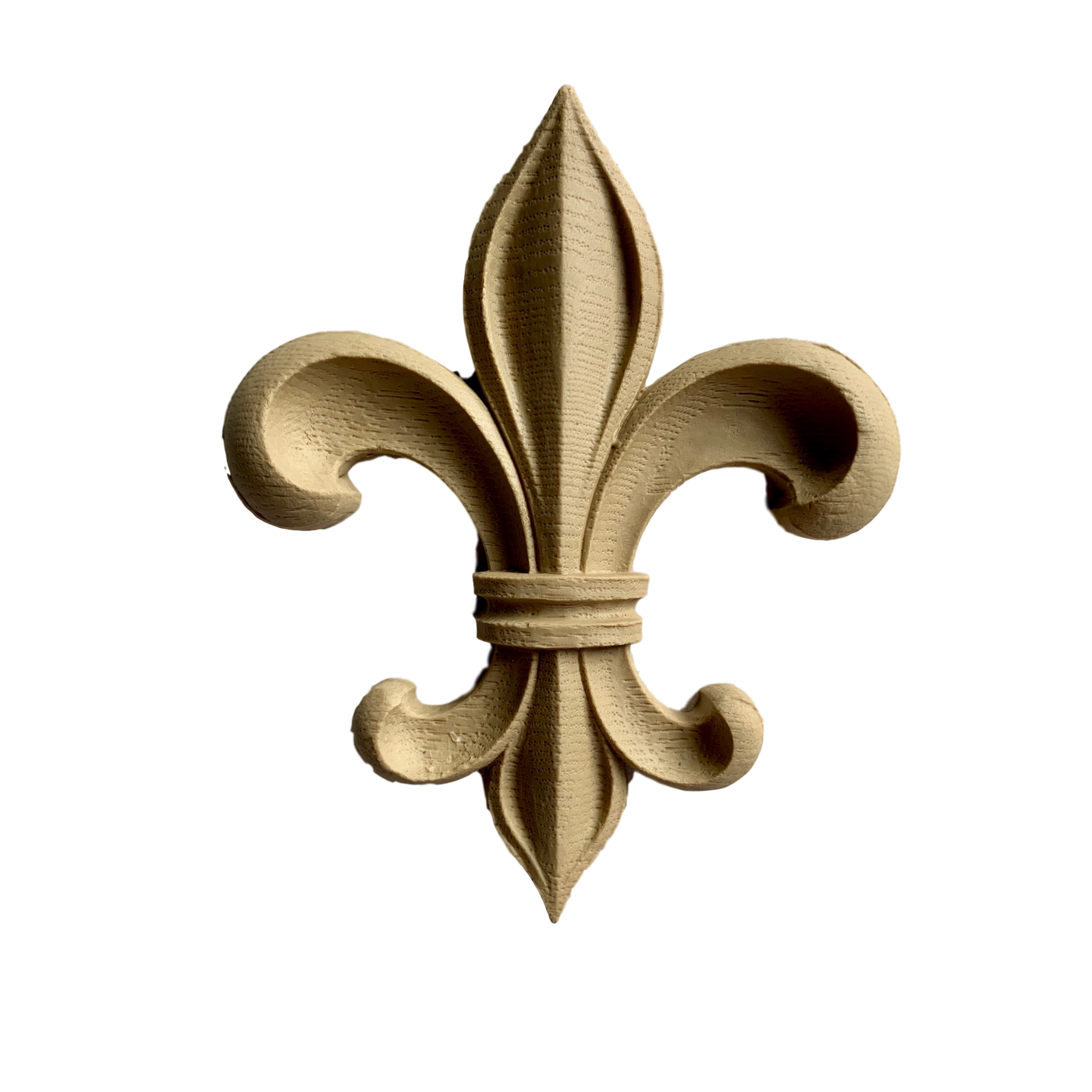 "Fleur de Lis Classic Offered in 7 Sizes From 1-1/8"" to 5-7/8"""