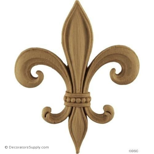 Fleur de Lis-Empire 5 1/2H X 4 3/8W - 3/8Relief - Decorators Supply