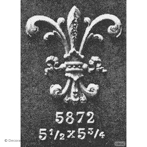 Fleur de Lis-Empire 5 3/4H X 5 1/2W - 1/4Relief - Decorators Supply