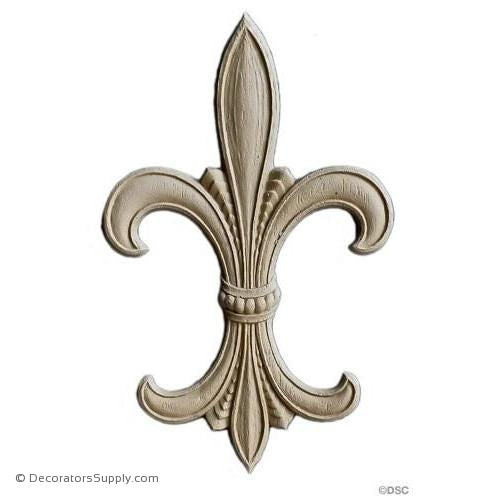 Fleur de Lis-Empire 7 5/8H X 4 3/4W - 1/4Relief - Decorators Supply