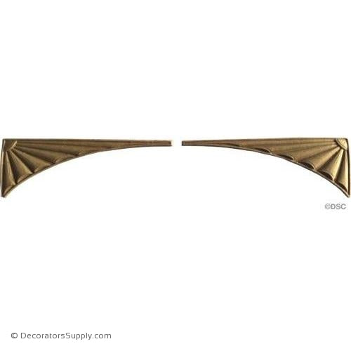 Sunburst Spandrels - 1 5/8 High 4 1/2 Wide-appliques-for-woodwork-furniture-Decorators Supply