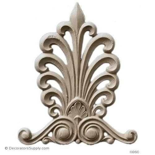 Palmette-Greek 6 1/8H X 5W - 3/16Relief-ornaments-furniture-woodwork-Decorators Supply