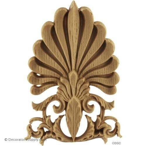Palmette-Greek 5 1/2H X 4W - 5/8Relief-ornaments-furniture-woodwork-Decorators Supply