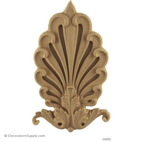 Palmette-Empire 5 1/4H X 2 7/8W - 5/16Relief-ornaments-furniture-woodwork-Decorators Supply