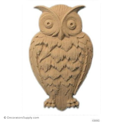Animal-Natural Owl 5 1/4H X 3 1/4W - 1/4Relief-Decorators Supply