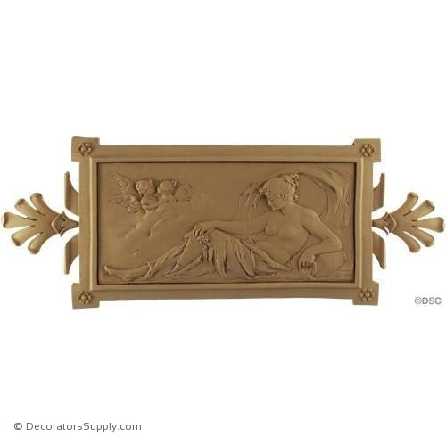 Figure-Classic 6 3/4H X 17 1/4W - 1/2Relief-ornaments-for-woodwork-furniture-Decorators Supply