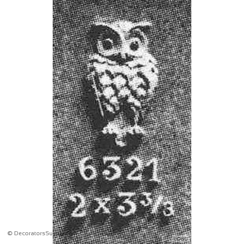 Animal-Natural Owl 3 3/8H X 2W - 1/4Relief-Decorators Supply
