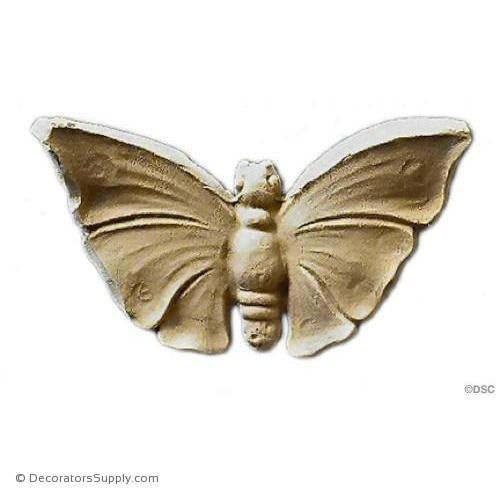 Animal-Nat. Butterfly 1 3/8H X 2 3/4W - 7/16Relief-Decorators Supply