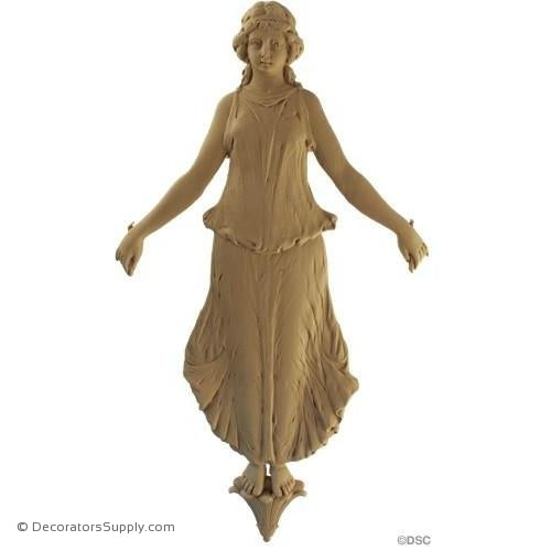 Female Figure - Empire 17 1/4H X 9 1/8W - 5/8Relief-historic-carving-library-victorian-styles-Decorators Supply