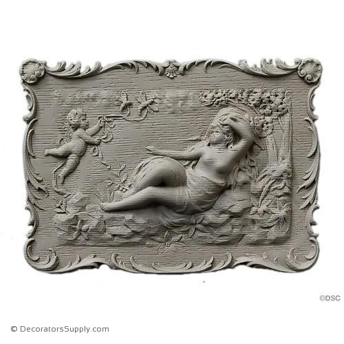 Cherub Scene-Louis XV 7H X 9 7/8W - 7/8Relief-historic-carving-library-victorian-styles-Decorators Supply