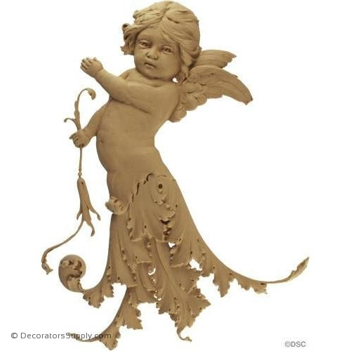 Cherub - Ital. Ren. 14 3/8H X 11 1/2W - 3/4Relief-historic-carving-library-victorian-styles-Decorators Supply