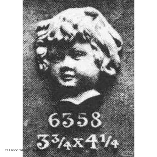Cherub Face 4 1/4H X 3 3/4W - 1 1/4Relief-historic-carving-library-victorian-styles-Decorators Supply