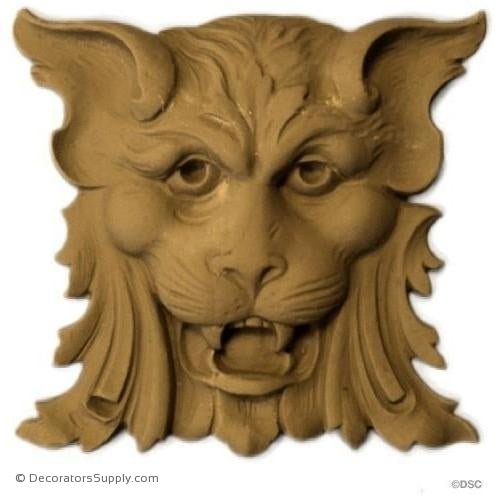 Lion Head-Louis XV 5H X 5 1/2W - 5/8Relief-Decorators Supply