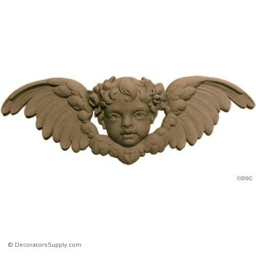 Cherub - 5H X 14 1/2W - 1 1/4Relief-historic-carving-library-victorian-styles-Decorators Supply