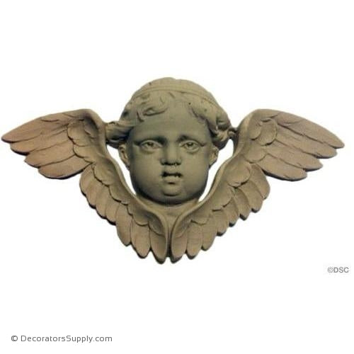 Cherub - 3 1/2H X 7W - 7/8Relief-historic-carving-library-victorian-styles-Decorators Supply