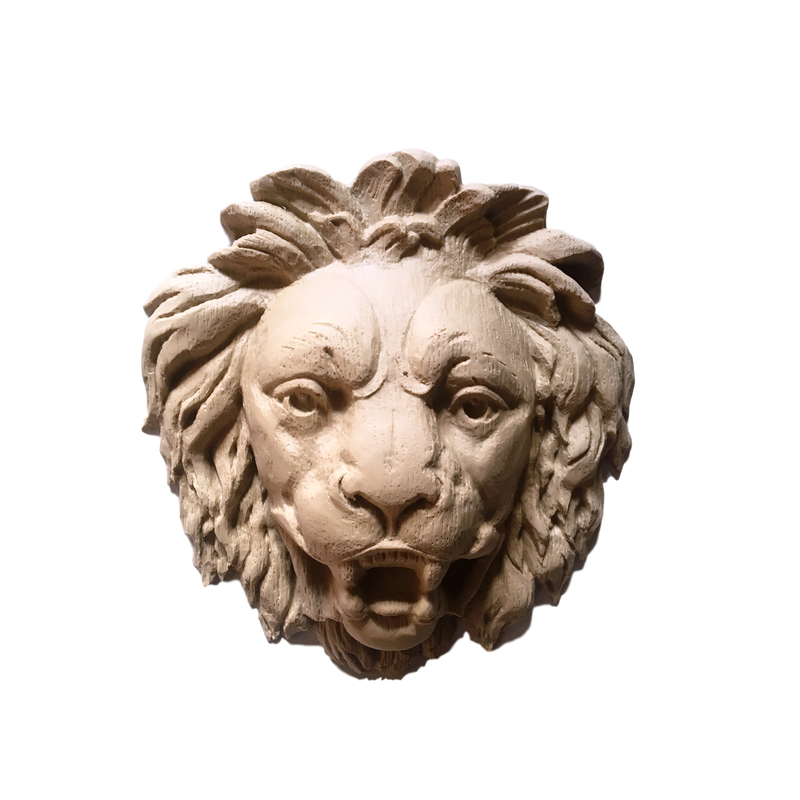 Lion Head - 8H X 7  1/2W - 2 Relief