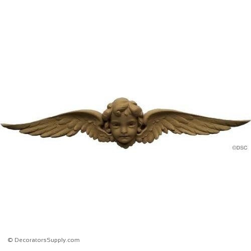 Cherub - 2 1/4H X 11 1/2W - 1Relief-historic-carving-library-victorian-styles-Decorators Supply