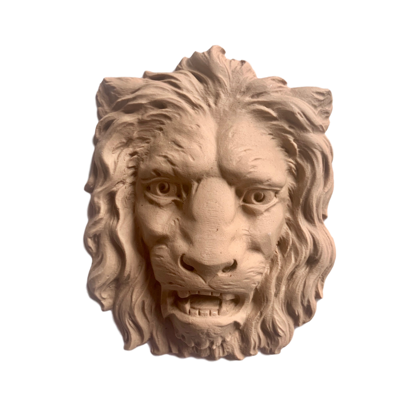 Lion Head - 6  1/2H X 5  1/8W - 1 3/8Relief