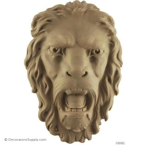 Lion Head - 6 1/2H X 4 1/4W - 1 3/8Relief-Decorators Supply