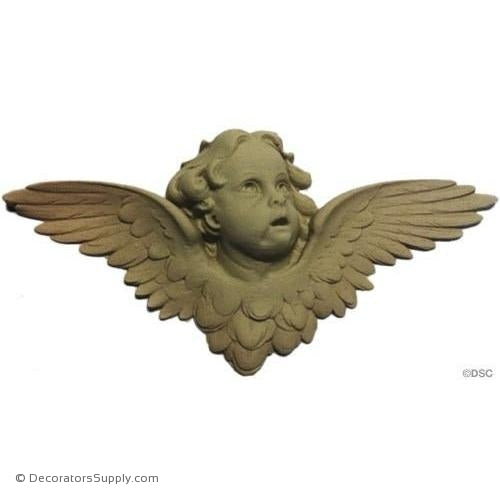 Cherub - 3 5/8H X 7 1/2W - 3/4Relief-historic-carving-library-victorian-styles-Decorators Supply