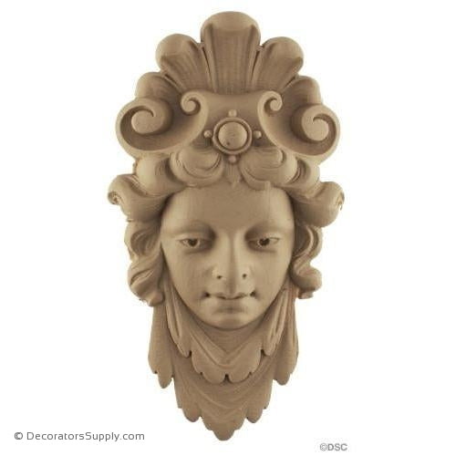 Face-Ger. Ren. 8 1/2H X 4 5/8W - 1Relief-historic-carving-library-victorian-styles-Decorators Supply