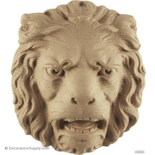 Lion Head - 5 1/4H X 4 1/2W - 1 5/8Relief-Decorators Supply