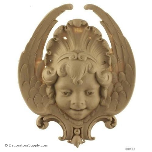 Cherub - Louis XV 8 1/8H X 6 5/8W - 1 1/4Relief-historic-carving-library-victorian-styles-Decorators Supply