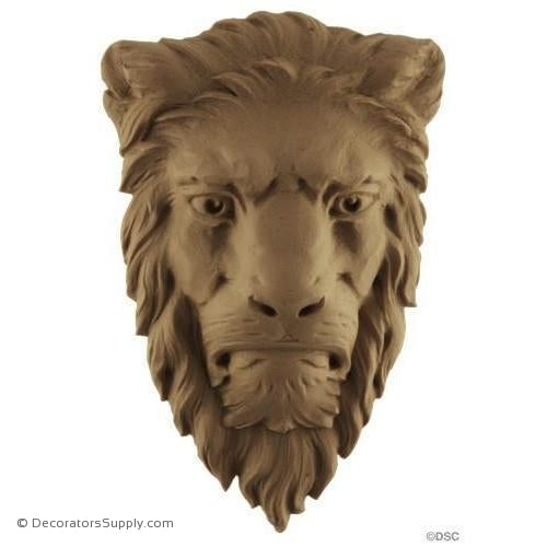 Lion Head-Nat. Lion 5 3/4H X 3 3/4W - 1 1/8Relief-Decorators Supply