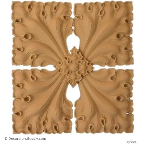 Rosette Square - Gothic Ivy-ornaments-for-woodwork-furniture-Decorators Supply