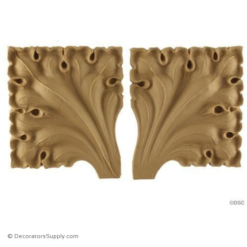 Gothic Rosette - 4H X 3 3/8W - 1/4Relief-ornaments-for-woodwork-furniture-Decorators Supply
