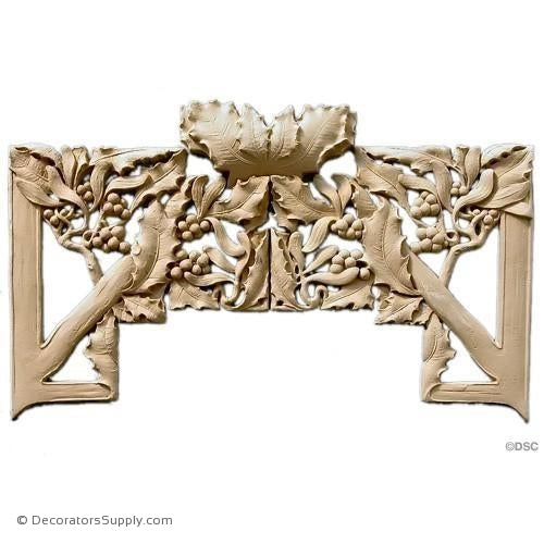 Gothic Vine & Berry Design 10 1/2H X 17 1/2W - 3/8Relief-ornaments-furniture-woodwork-Decorators Supply