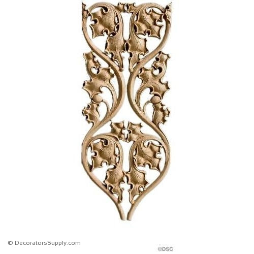 Gothic Vine Design 16H X 6 3/4W - 1/4Relief-ornaments-furniture-woodwork-Decorators Supply