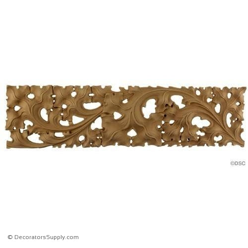 Gothic Ivy Linear Band - 4 1/2H - 3/8Relief-woodwork-furniture-lineal-ornament-Decorators Supply
