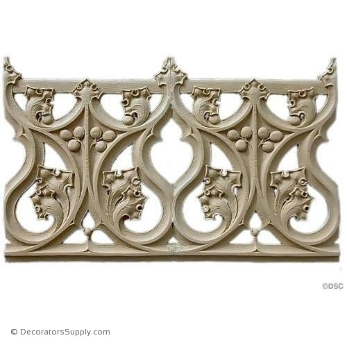 Gothic Leaf & Vine Linear 10 3/4H - 1/4Relief-ornaments-furniture-woodwork-Decorators Supply