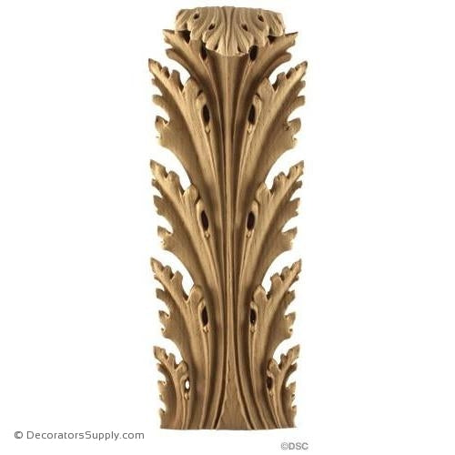 Acanthus-Ital. Ren 11 3/4H X 4 3/8W - 1 1/2-1/2Relief-ornaments-furniture-woodwork-Decorators Supply