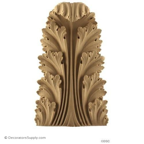 Acanthus-Roman 8H X 5W - 1-3/8Relief-ornaments-furniture-woodwork-Decorators Supply