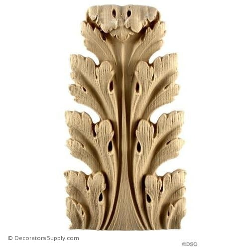 Acanthus-Fr. Ren. 6 1/2H X 3 1/2W - 3/4-3/8Relief-ornaments-furniture-woodwork-Decorators Supply