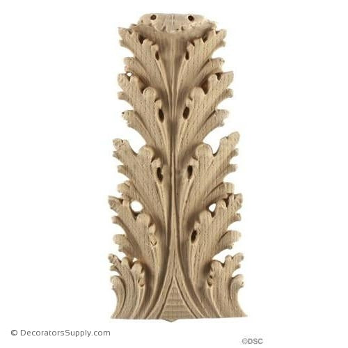 Acanthus-Ital. Ren 7 1/4H X 3 1/4W - 3/4-1/4Relief-ornaments-furniture-woodwork-Decorators Supply