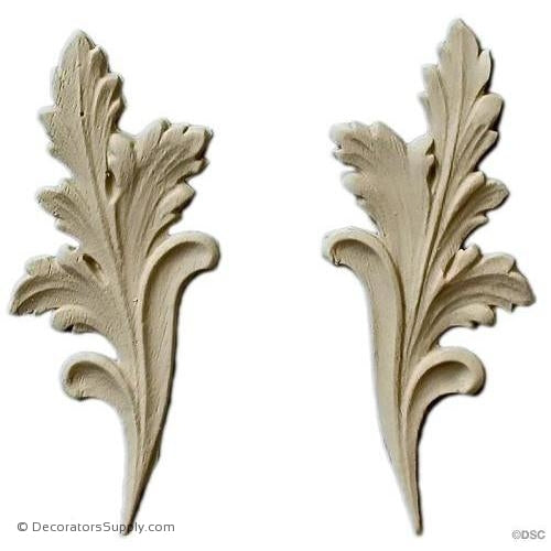 Leaf 3 3/4 High 1 1/2 Wide-ornaments-furniture-woodwork-Decorators Supply