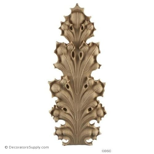 Acanthus-Gothic 12H X 5 1/8W - 1/2-1/4Relief-ornaments-furniture-woodwork-Decorators Supply