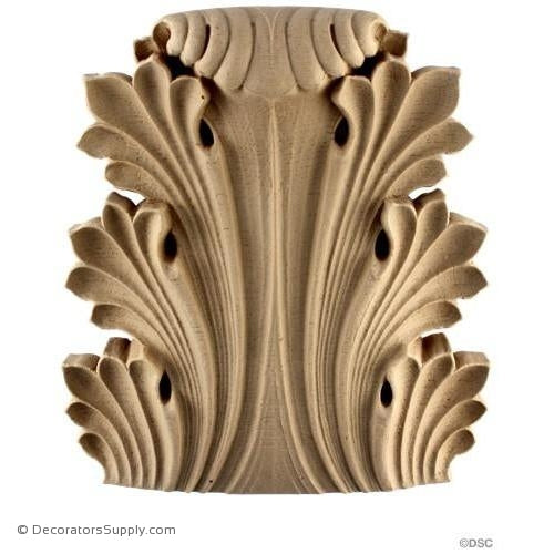 Acanthus-Greek 7 7/8H X 7 3/8W - 1 1/2-1 1/Relief-ornaments-furniture-woodwork-Decorators Supply