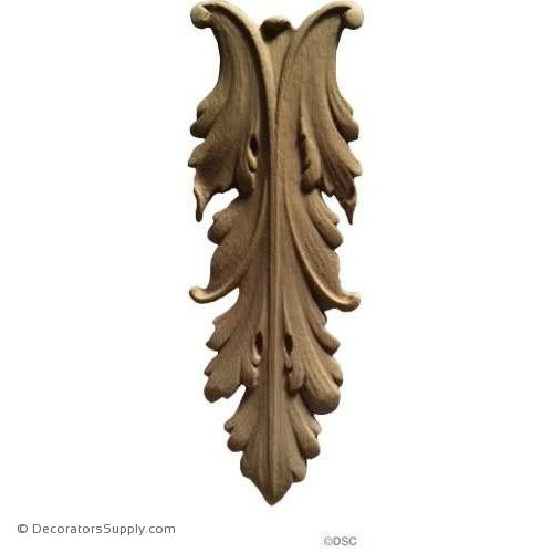 Acanthus/Leaf - 2 1/4 Wide x 6 1/4 High-ornaments-furniture-woodwork-Decorators Supply