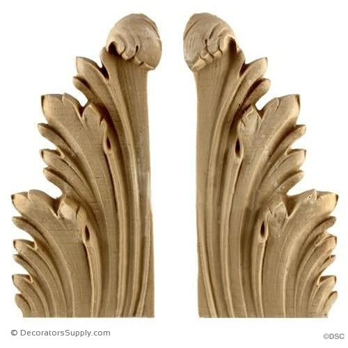 Leaf-Louis XVI 6 1/4H X 2 3/4W - 3/4-5/16Relief-ornaments-furniture-woodwork-Decorators Supply