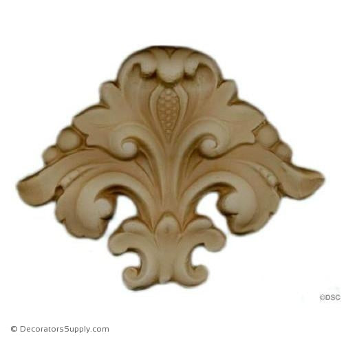 Leaf-Ren. 3 1/4H X 4 1/2W - 3/8Relief-ornaments-for-woodwork-furniture-Decorators Supply